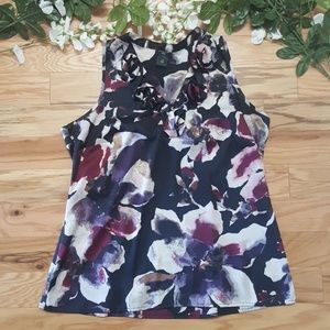 Ann Taylor Silky Smooth Floral Tank Top